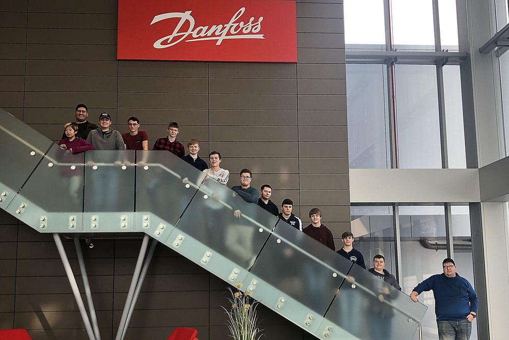 Herkimer BOCES VP-TECH seniors tour Danfoss Silicon Power on SUNY Polytechnic Institute Utica Campus