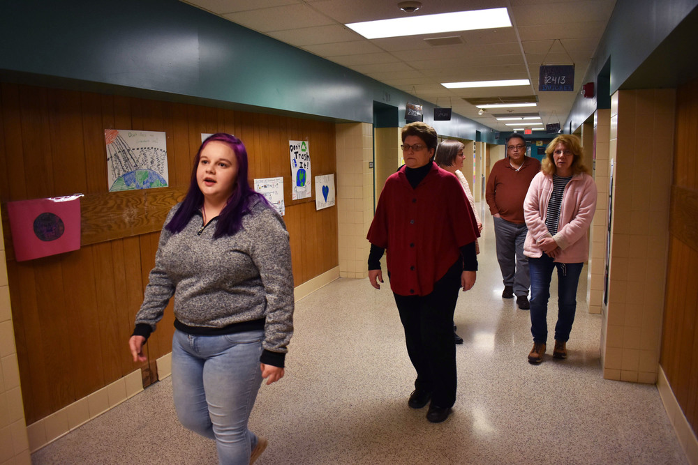Local school board members learn about BOCES programs during Remington school building tours