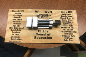 Herkimer BOCES VP-TECH students put skills from Advanced Manufacturing class to work for project