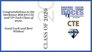 Herkimer BOCES celebrates CTE and VP-TECH Class of 2020 with virtual graduation ceremony