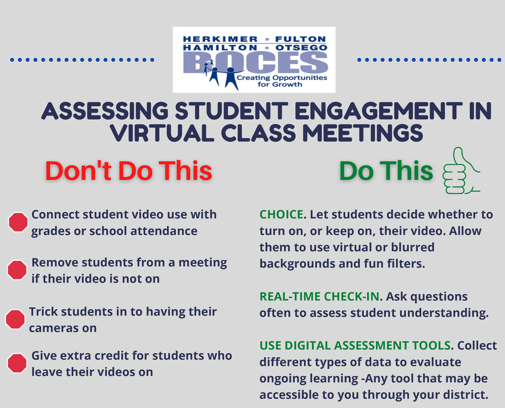 Dos and Don'ts of students on video conferencing