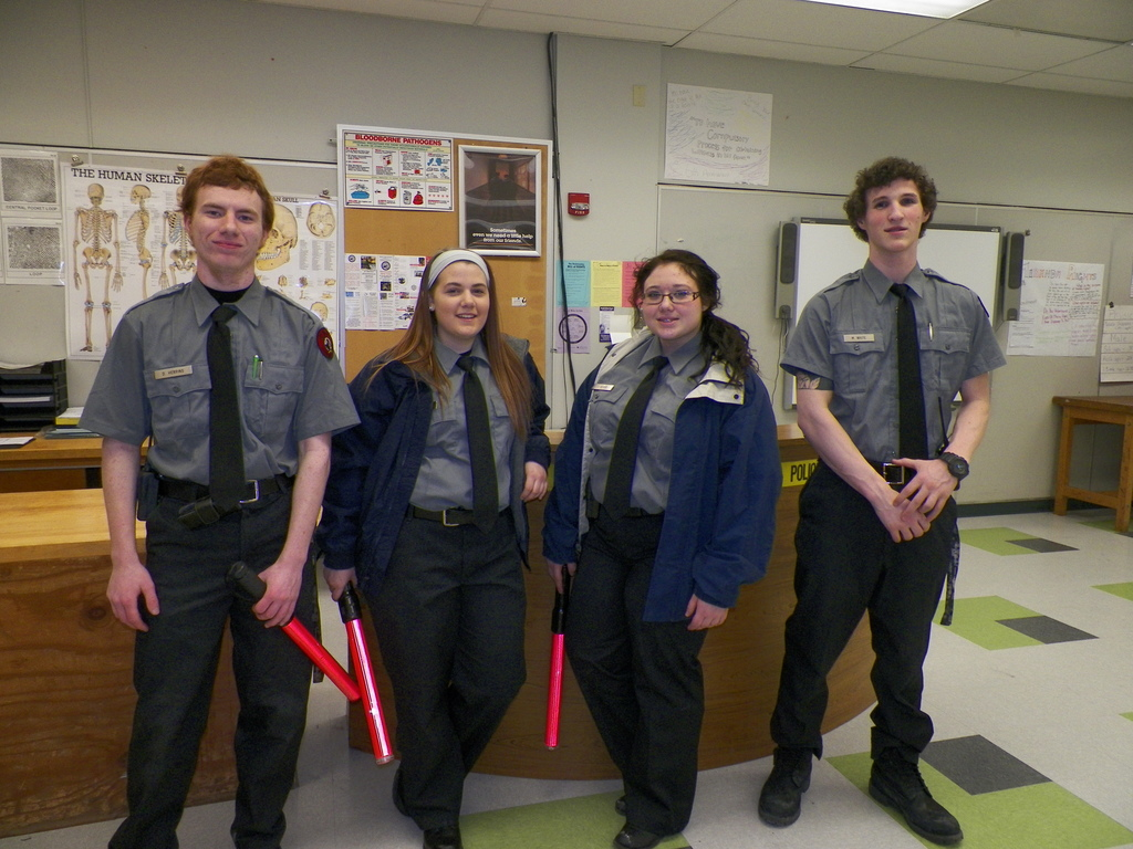 Criminal Justice students posing for a photo